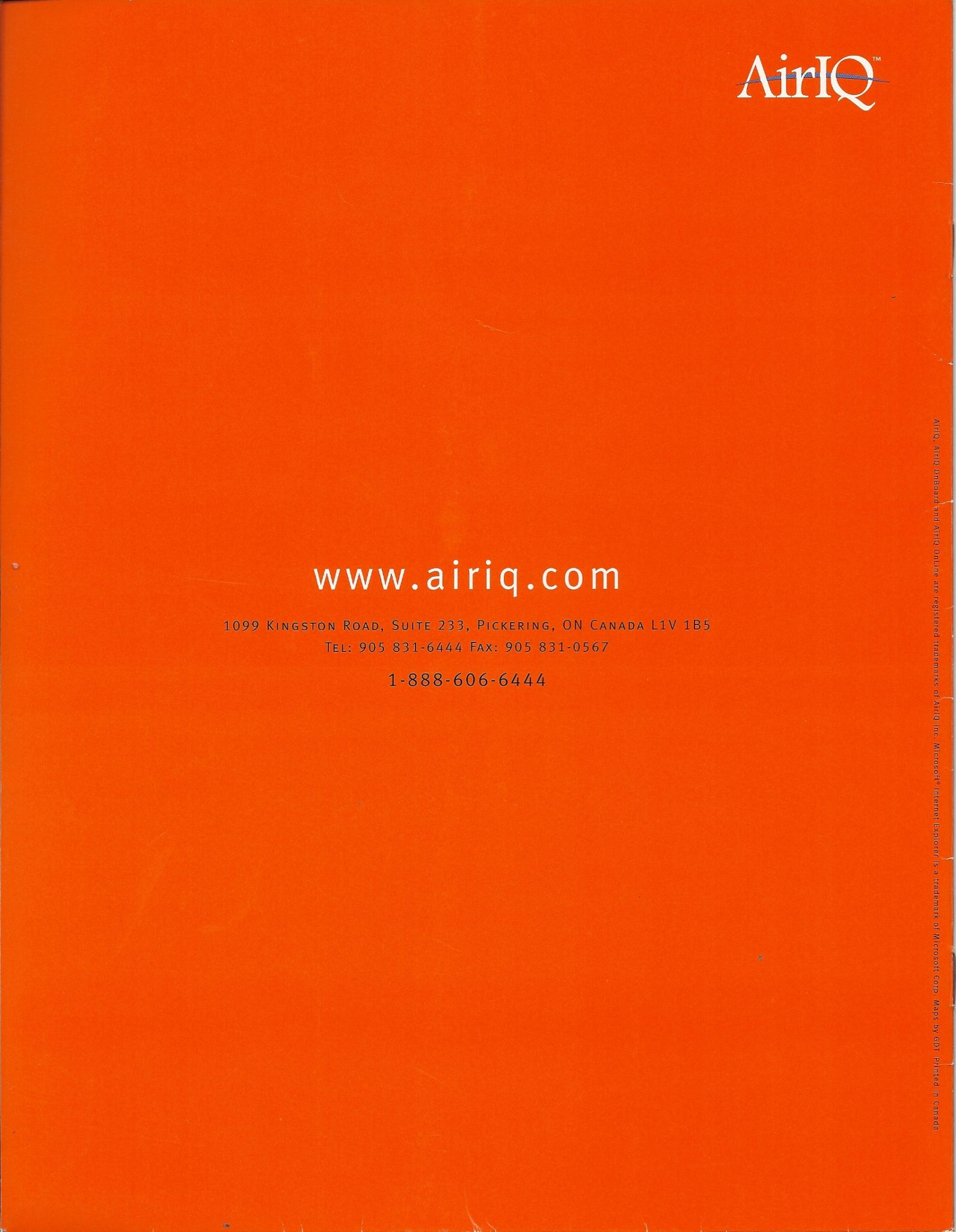 AirIQ Brochure (p 12 of 12)